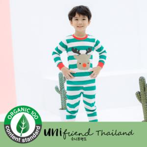 ชุดนอนเด็ก เสื้อผ้าเด็ก 20fw/Rudolph (Green) 9