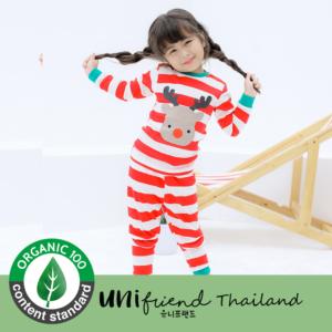 ชุดนอนเด็ก เสื้อผ้าเด็ก 20fw/Rudolph (Red) 9