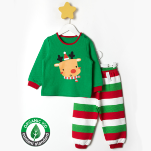 ชุดนอนเด็ก เสื้อผ้าเด็ก  20fw/Hello Rudolph9(green)