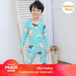 ชุดนอนเด็ก เสื้อผ้าเด็ก 20fw/Peachwarm-fox(blue)