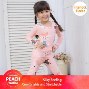 ชุดนอนเด็ก เสื้อผ้าเด็ก 20fw/Peachwarm-fox(pink)