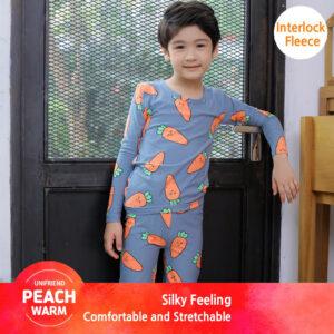 ชุดนอนเด็ก เสื้อผ้าเด็ก 20fw/Peachwarm-carrot (charcoal)