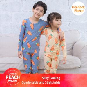 ชุดนอนเด็ก เสื้อผ้าเด็ก 20fw/Peachwarm-carrot(orange)