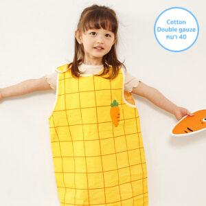 ถุงนอนผ้าห่มเด็ก 21SS/Double Gauze Sleepvest – Mini Carrot Orange