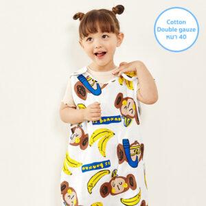 ถุงนอนผ้าห่มเด็ก 21SS/Double Gauze Sleepvest – Monkey Banana
