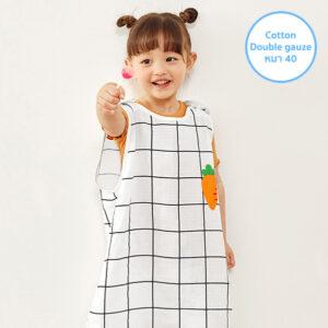 ถุงนอนผ้าห่มเด็ก 21SS/Double Gauze Sleepvest – Mini Carrot White