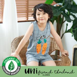 ชุดนอนเด็ก เสื้อผ้าเด็ก 21ss/ Music Carrot Sleeveless