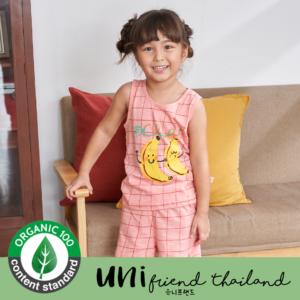 ชุดนอนเด็ก เสื้อผ้าเด็ก 21ss/ Music banana sleeveless