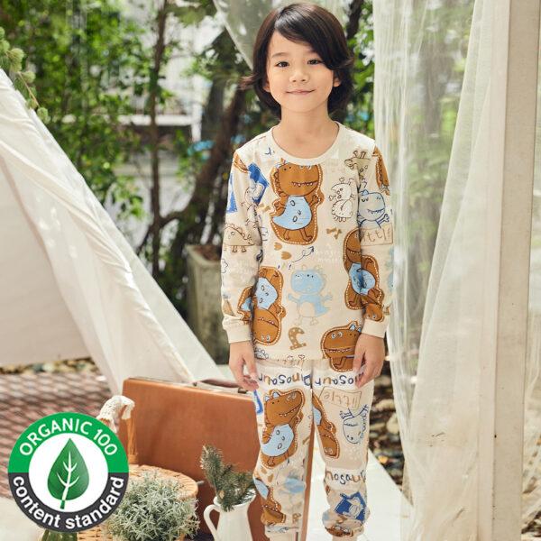 ชุดนอนเด็ก เสื้อผ้าเด็ก 21fw-Little-dinosaur9
