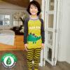 ชุดนอนเด็ก เสื้อผ้าเด็ก 21fw-Green-dino9