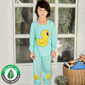 ชุดนอนเด็ก เสื้อผ้าเด็ก 21fw-Duck-blue9