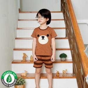 ชุดนอนเด็ก เสื้อผ้าเด็ก 21ss/Brown bear5