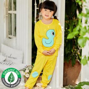 ชุดนอนเด็ก เสื้อผ้าเด็ก 21fw-Duck-Yellow9