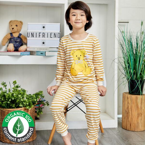 ชุดนอนเด็ก เสื้อผ้าเด็ก 21fw-TeddyBear-beige9