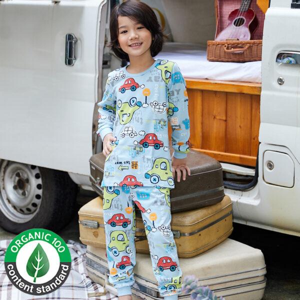 ชุดนอนเด็ก เสื้อผ้าเด็ก 21fw-Vroom-car9