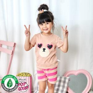 ชุดนอนเด็ก เสื้อผ้าเด็ก 21ss/Heart bear5