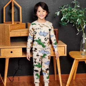 ชุดนอนเด็ก เสื้อผ้าเด็ก 21fw/Dino beige9
